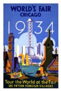 Vintage Travel Poster World Fair Chicago